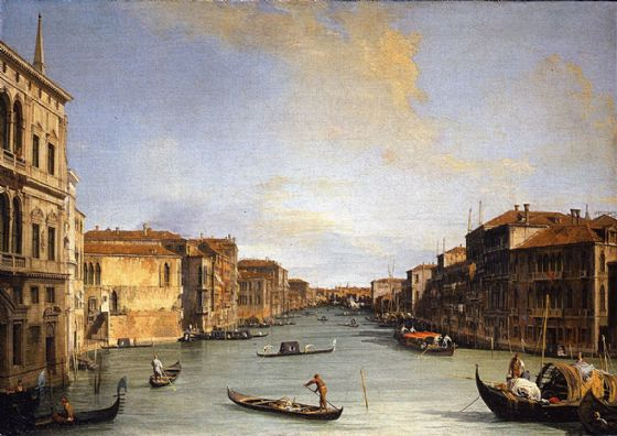 Canaletto, Giovanni Antonio Canal: View of the Grand Canal. Fine Art Print/Poster. Sizes: A4/A3/A2/A1 (003453)
